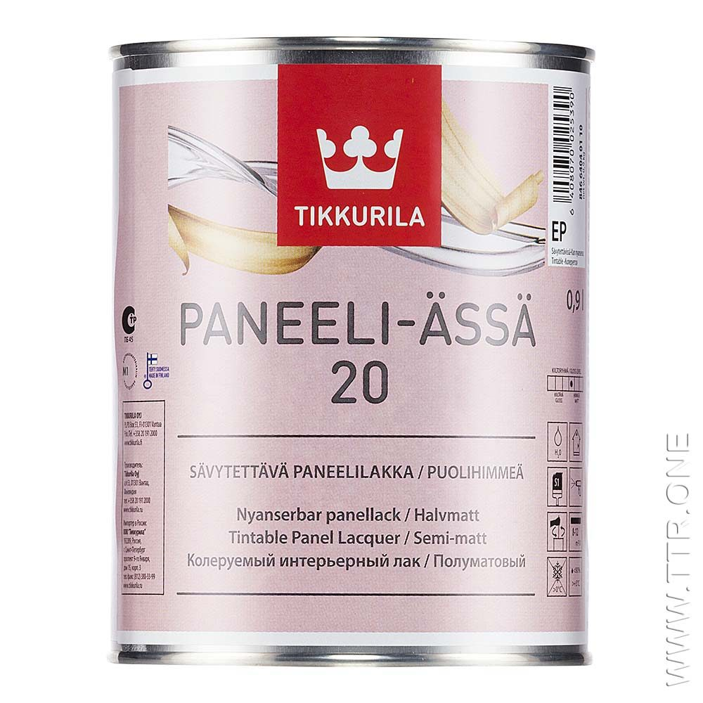 لاک پانلی آسا 20 از تیکوریلا قوطی 1 لیتری