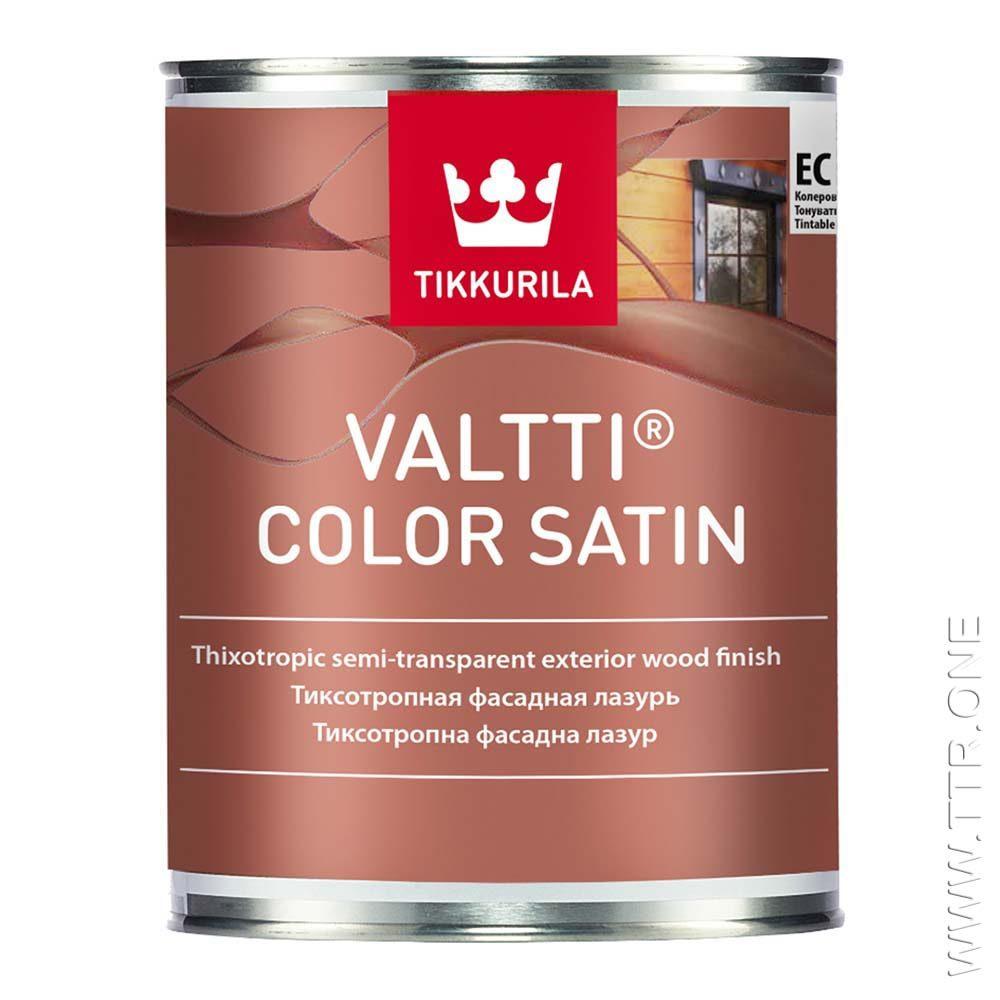رنگ والتی کالر ساتین، نیمه شفاف (فینیش)، رنگ چوب، رنگ چوب ترمو، رنگ چوب اشباع شده، یک لیتری